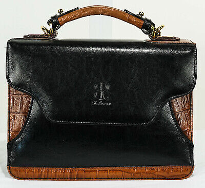 Gently Loved Bellerose Structured Satchel with Many Compartments