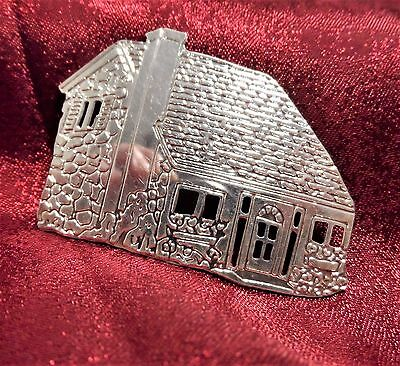 Cobblestone Country Cottage House Cabin Brooch Pin Sterling Silver 925 VGC