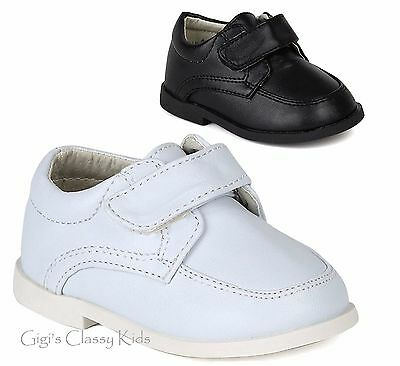New Baby Toddler Boys White Black Dress Shoes Christening Baptism Suit Tuxedo Boys White Dress Shoes