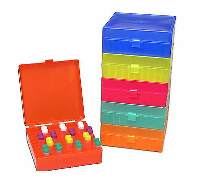 Test Tube Rack - 1.5ml Micro Centrifuge - Freezer Storage Case With Hinged Lid