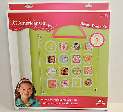 American Girl Crafts Mosaic Frame Kit With Papers and Stickers NEW