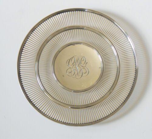 "Watson Sterling Silver Reticulated 9.5"" Sandwich/Dessert Plate / Tray, 260 grams"