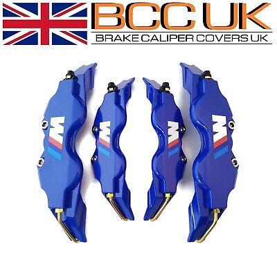 NEW Blue Brake Caliper Covers DIY Kit White ///M Logo Front Rear 4xM+S fits BMW