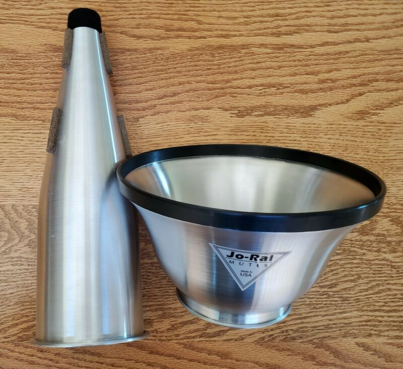 Jo Ral TRB-B7 Bass Trombone Adjustable Cup/Straight Mute - barely used.