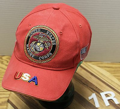 UNITED STATES MARINE CORP USA VFW POST 2252 KALISPELL MONTANA HAT ADJUSTABLE GC