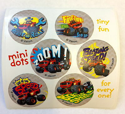 60 Blaze and the Monster Machine Truck  Stickers Party Favors Teacher Supply  - Monster Truck Party Supplies