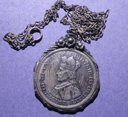 1936 Lithuania 10 Litu Necklace