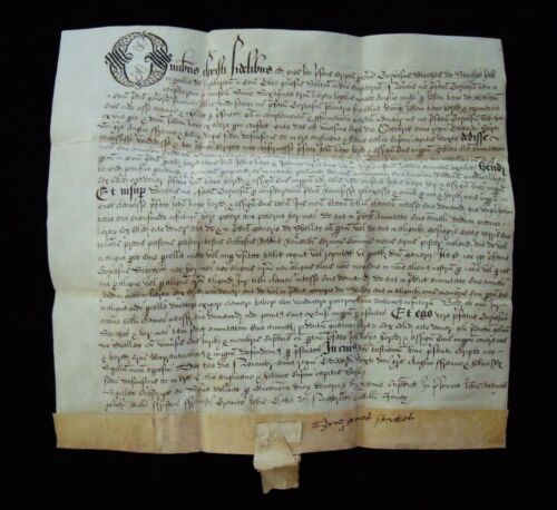 Rare vellum document from Edward VI The Tudor Boy King Period 1547-1553