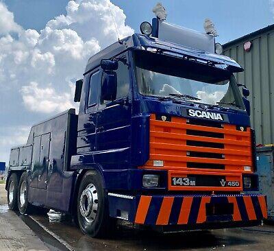 Scania 143 V8 450 Topline Streamline Wrecker/Recovery RHD