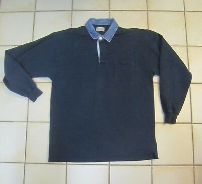 * POLO HOMME MARINE -  MANCHES LONGUES  --  T M  --  RIVER WOODS
