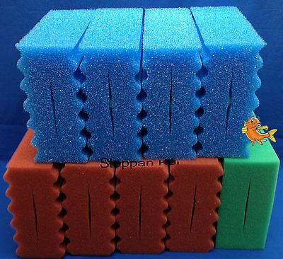 9  x  Ersatz Filterschwamm gewellt  passend für Oase Biotec 10.1 + 5.1 Koi Teich