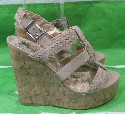 New Ladies Brown Wedge Heel - new ladies  brown 6