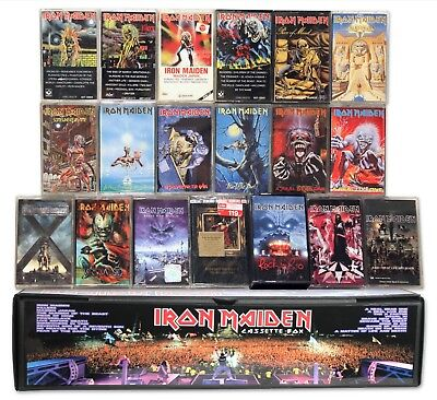 IRON MAIDEN - 20 cassettes in custom box set lot (19 used/1 new) killers live af
