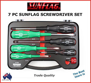 sunflag 7pc screwdriver set professional quality best there is made in japan ebay. Black Bedroom Furniture Sets. Home Design Ideas