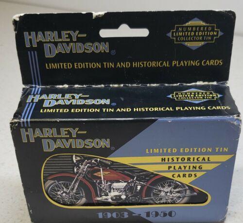 Harley Davidson Limited Edition Tin 2 Decks Historical 1903-1950 Playing Cards