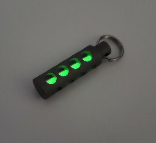 Anodized Titanium Tritium Pendant Fob Key Chain Light GLOW 25+ year COLORS