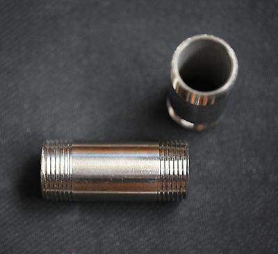 Stainless Steel Nipple 34 Npt X 4 Long Pipe Np-075-040