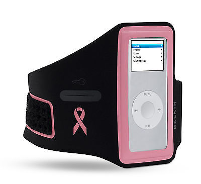 Belkin Sports Gym Armband Cover Case for Ipod Nano 5G 4G 2G 1G Pink F8Z153-sgk Ipod Nano 5g Armband