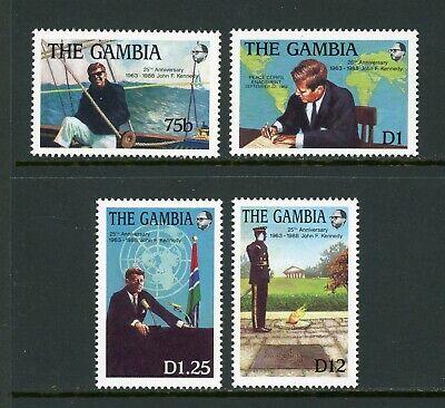 Gambia Scott #763-766 MNH Tribute to John F. Kennedy JFK CV$3+ TH-1