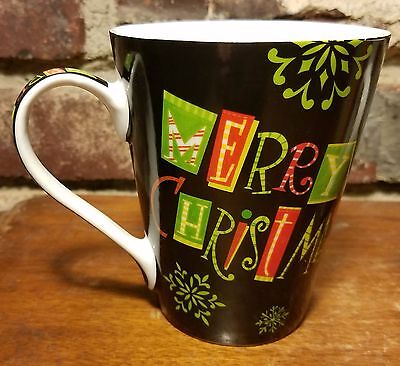 Brother Sister Merry Christmas Mug  4 3 8   Snowman  Black  Excellent