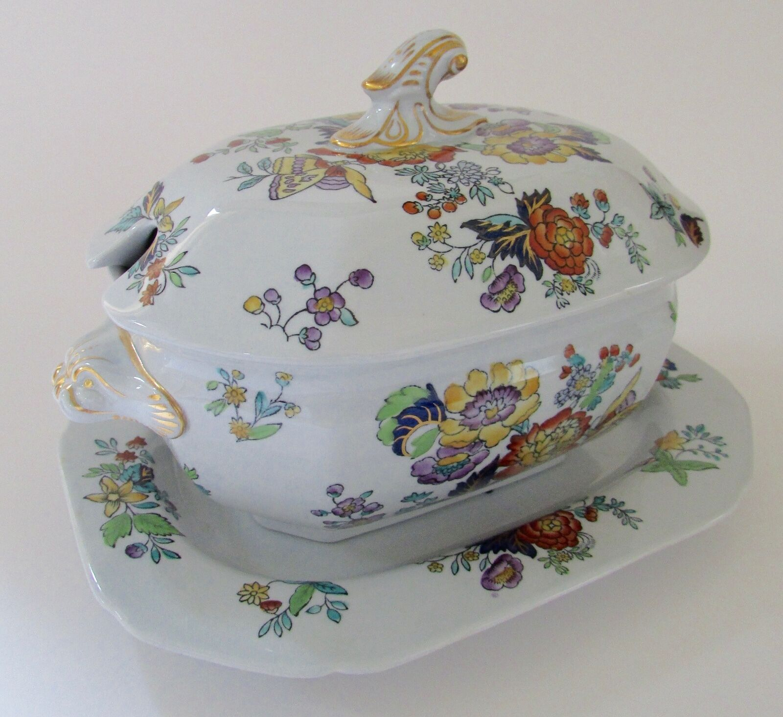 SPODE COPELAND New Stone W26 Floral Small Tureen & Platter