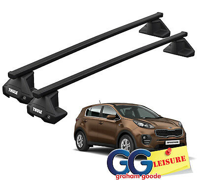 UKB4C Aluminium Roof Rack Cross Bars fits Kia Sportage 2004-2010 5 door