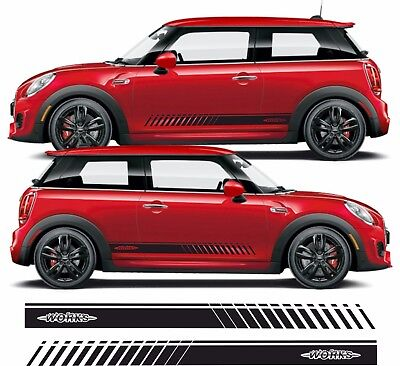 BMW Mini Cooper S works Side stripes Decals Stickers Graphics any colour for sale  Shipping to Ireland