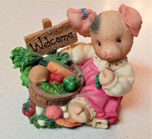 """1998 Enesco TLP This Little Piggy """"Welcome to the Garden of Eatin"""" - 469068"""