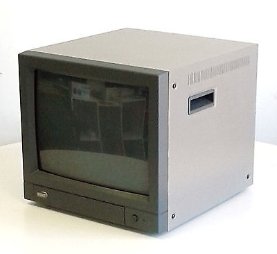15 inch color security CRT monitor 700 TVL 2 video input 2 loop-through BNC RCA