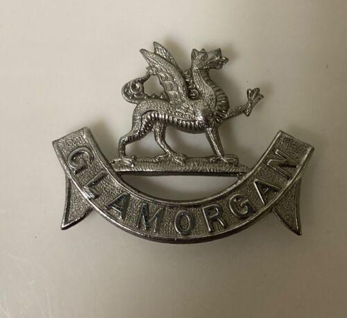 Helmet Plate Badge Welsh UK British Constabulary (Bobby) - Glamorgan