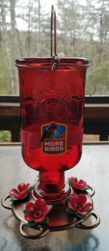 More Birds Elixir Hummingbird Feeder Vintage Glass Medicine