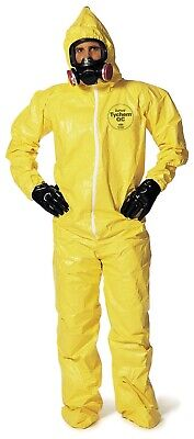 Dupont Tychem 2000 Qc127s Size Xl Chemical Resistant Coverall 12 Pcs Per Box