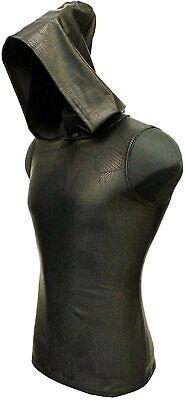 SHRINE RITUAL GOTHIC RAVE PUNK CYBER ROCKER FUTURISTIC PATCHWORK SHIRT HOODIE Activewear