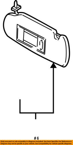 AUDI OEM 99-00 A8 Quattro Sunvisor-Sun Visor Right