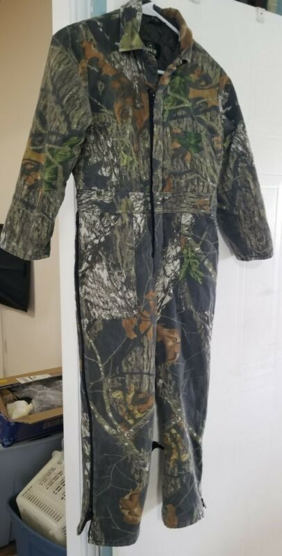 Boy's Vintage Red Head Outdoor Hunting Fishing  Camouflage Zip Jumpsuit Size 12