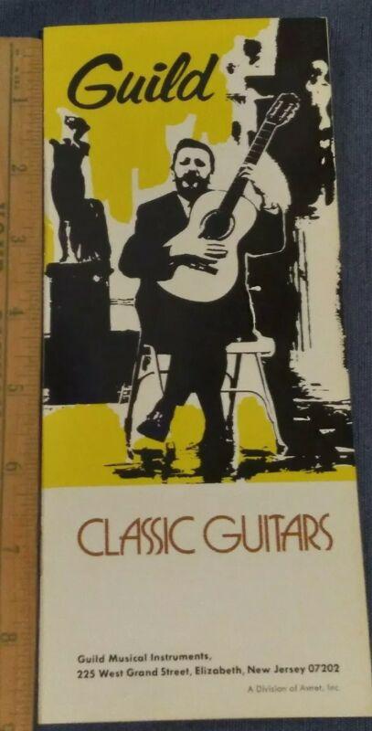 1960s Guild Classic Guitars Brochure ORIGINAL MINT CASE CANDY ADDS VALUE
