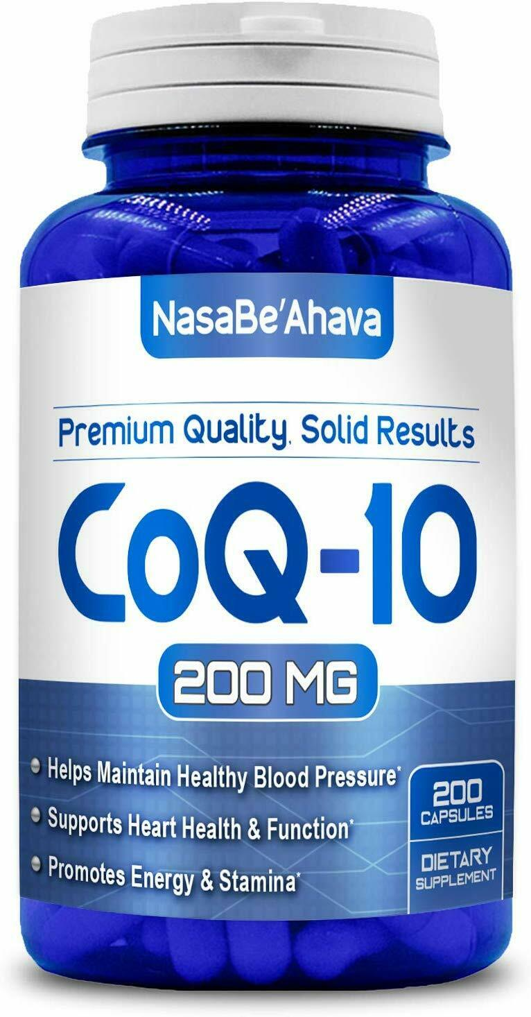 CoQ-10 200mg 200Capsules Coq10 Co Q10 Coenzyme Anti Aging Ca