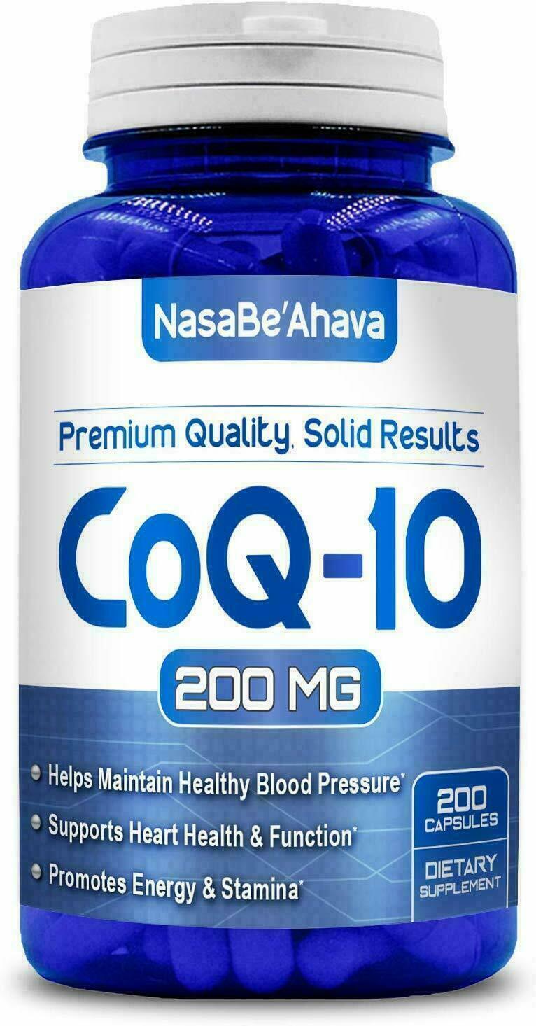 Nasa Fresh CoQ-10 200mg 200Capsules Coenzyme Anti Aging Cardiovascular Free Ship