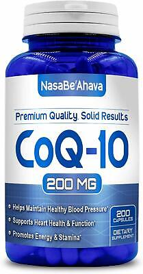 Pure CoQ10 200mg 200 Capsules Supports Heart Health & Helps Maintain Healthy -