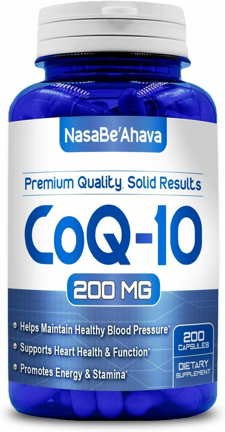 Pure CoQ10 200mg 200 Capsules Supports Heart Health & Helps