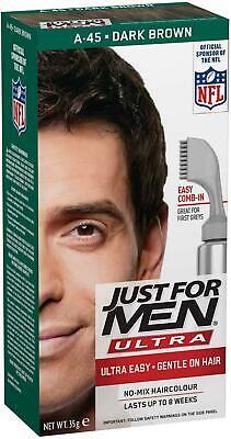 Just for Men Hair Dye, A45 –Dark Brown, Men's Ultra Hair Colour