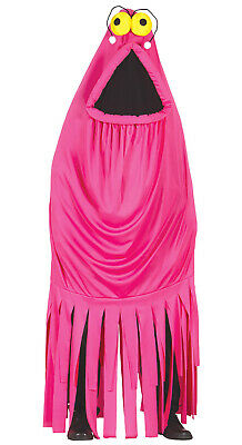 Pinkes Monster Kostüm für Erwachsene Damen Herren Halloween Horror rosa Gr. (Pink Für Erwachsene Kostüm Damen)