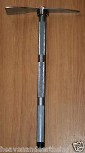 Compact PROSPECTORS PICK AXE Magnetic Miners Shovel Hatchet Steel Digging Tool