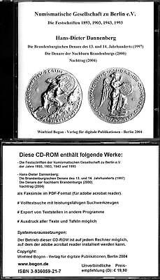 CD-ROM: H.-D. Dannenberg: D. brandenburgischen Denare/Denare d. Nachbarn Branden