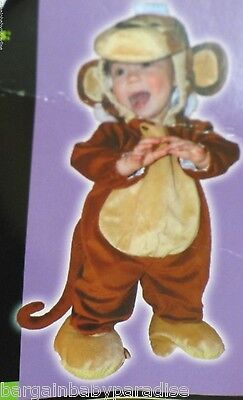 NWT Soft Monkey Costume Baby Infant Hooded Jumper Outfit 6-12 Months (Monkey Soft Kostüme)