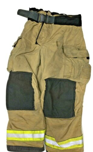 40x30 Globe Gxtreme Brown Firefighter Turnout Pants With Yellow Tape P1242