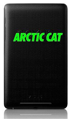 "ARCTIC CAT 4"" DECAL Cell Phone Helmet Laptop ATV Snowmobile Sticker XF Z Sno Pro"