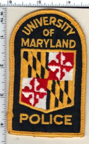 University of Maryland Police (Maryland) uniform take-off shoulder patch 1980