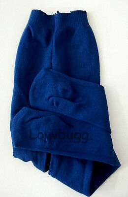 """Lovvbugg Navy Blue Tights for 18"""" American Girl n Bitty Baby Doll Clothes"""