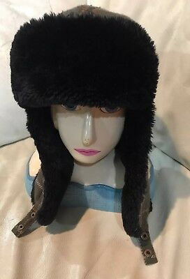 RIVINGTON & MOTT NEW YORK EAR FLAP RUSSIAN STYLE PLAID HAT FAUX FUR ONE SIZE Plaid Hat Earflap